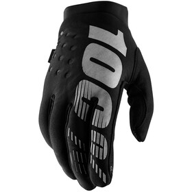 100% Brisker Cold Weather Guantes Mujer, black/grey